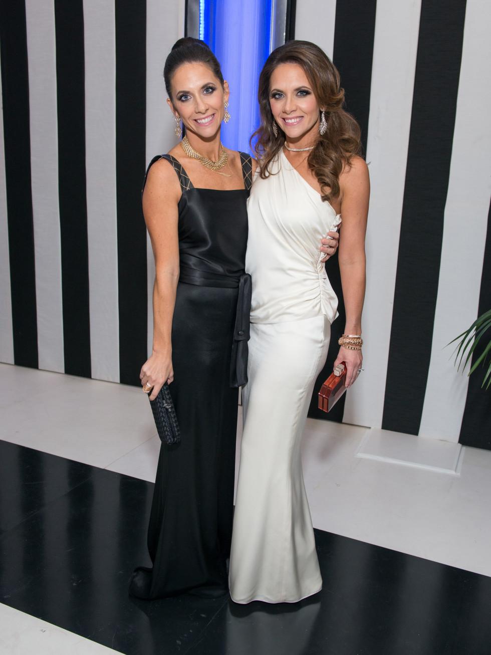 News, Shelby, MFAH gala gowns, Oct. 2015 Hannah McNair, Joanna Marks, both in Chanel