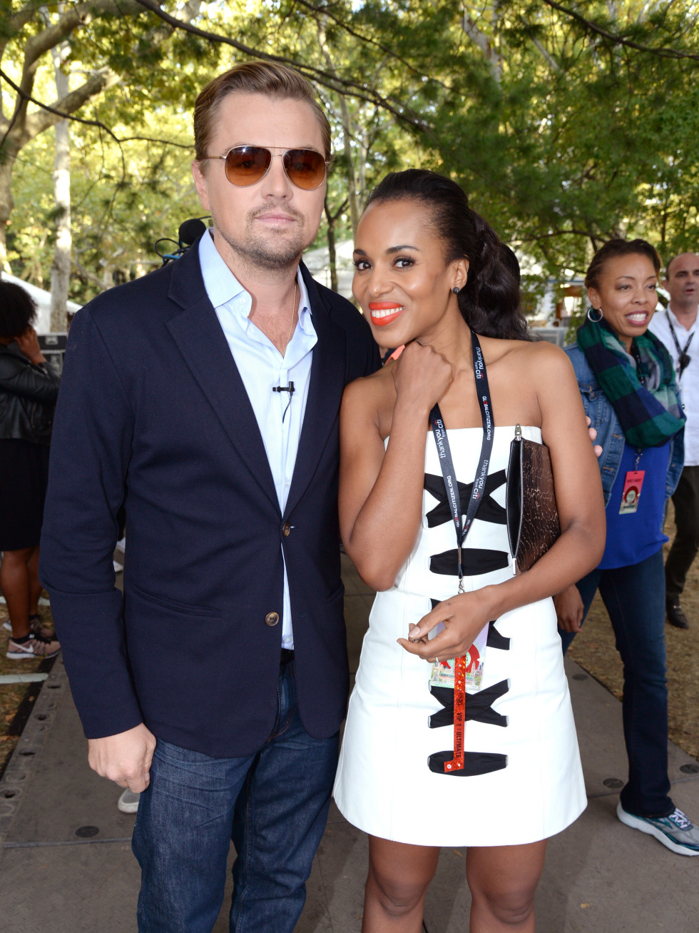 2015 Global Citizens Festival Kerry Washington and Leonardo Dicaprio