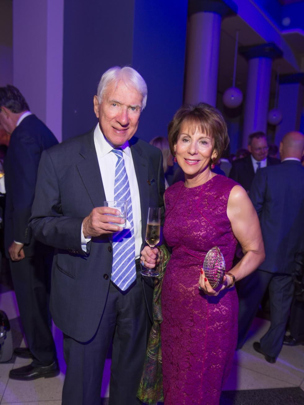 News, Shelby, Gerald Hines 90th birthday, Sept. 2015,Gene & Barbara Kohn
