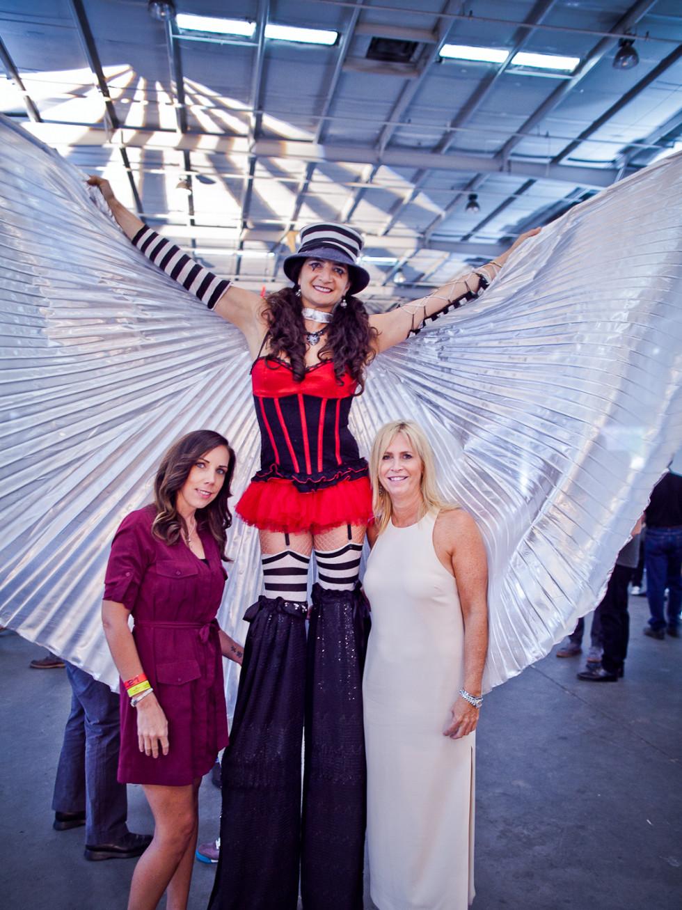 News, Joel, Mini Murals, Sept. 2015, Lisa Appleby, Cirque Noir performer, Lauren Valentino