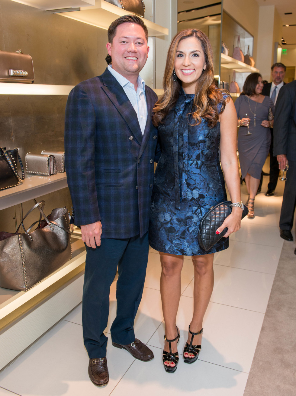News, Shelby, Heart of Fashion Valentino party, Sept. 2015,Stephen & Julie Chen
