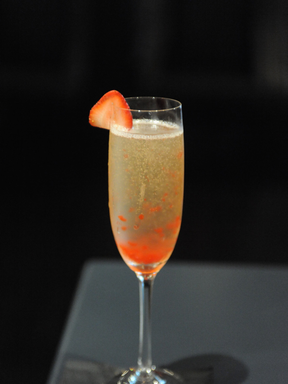 Tarakaan champagne cocktail