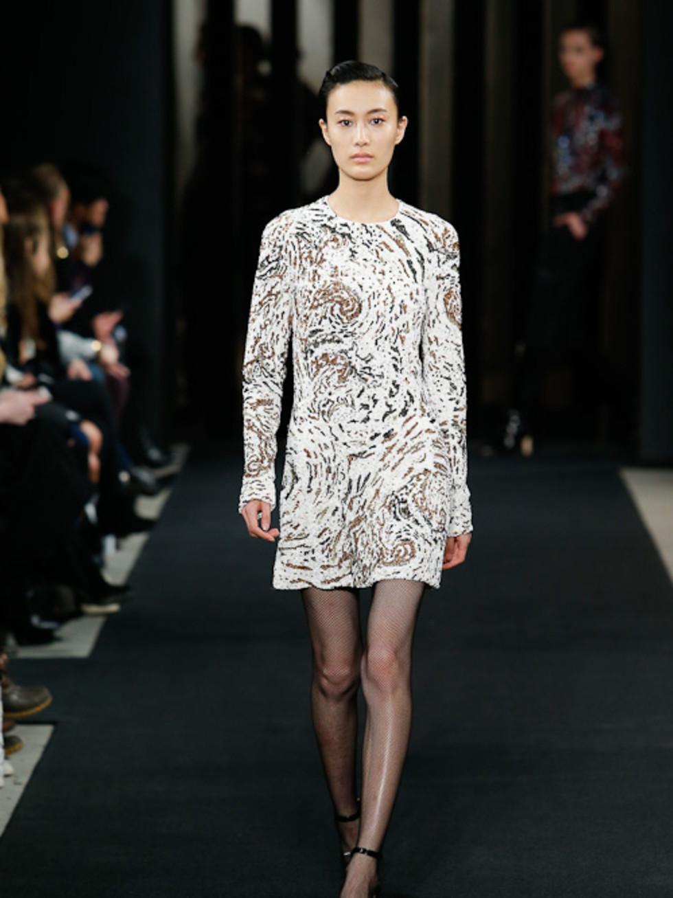 J Mendel hurricane patterend dress