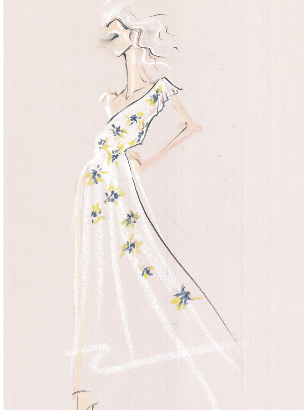 Joie spring 2016 New York Fashion Week inspiration sketch