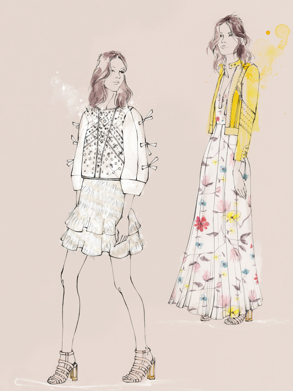 Rebecca Taylor inspiration sketch New York Fashion Week Fall 2016