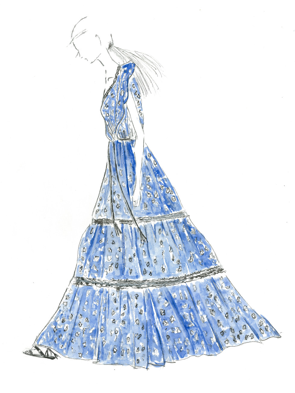 Eli Tahari spring 2016 sketch New York Fashion Week