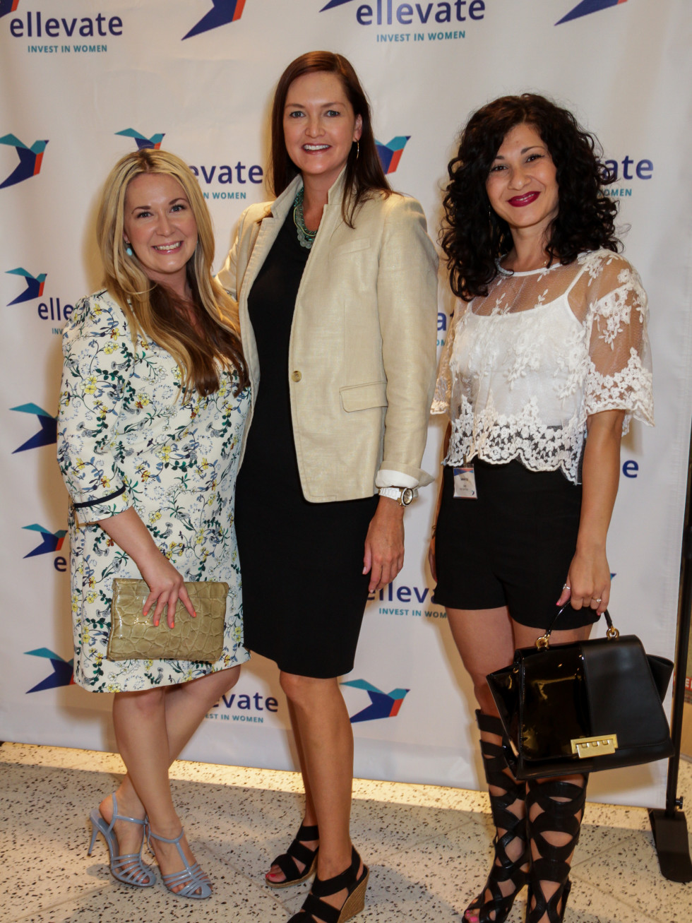 Houston, Ellevate event at Tootsies, August 2015, Misti Pace Krahl, Lisa Pounds, Sahar Paz