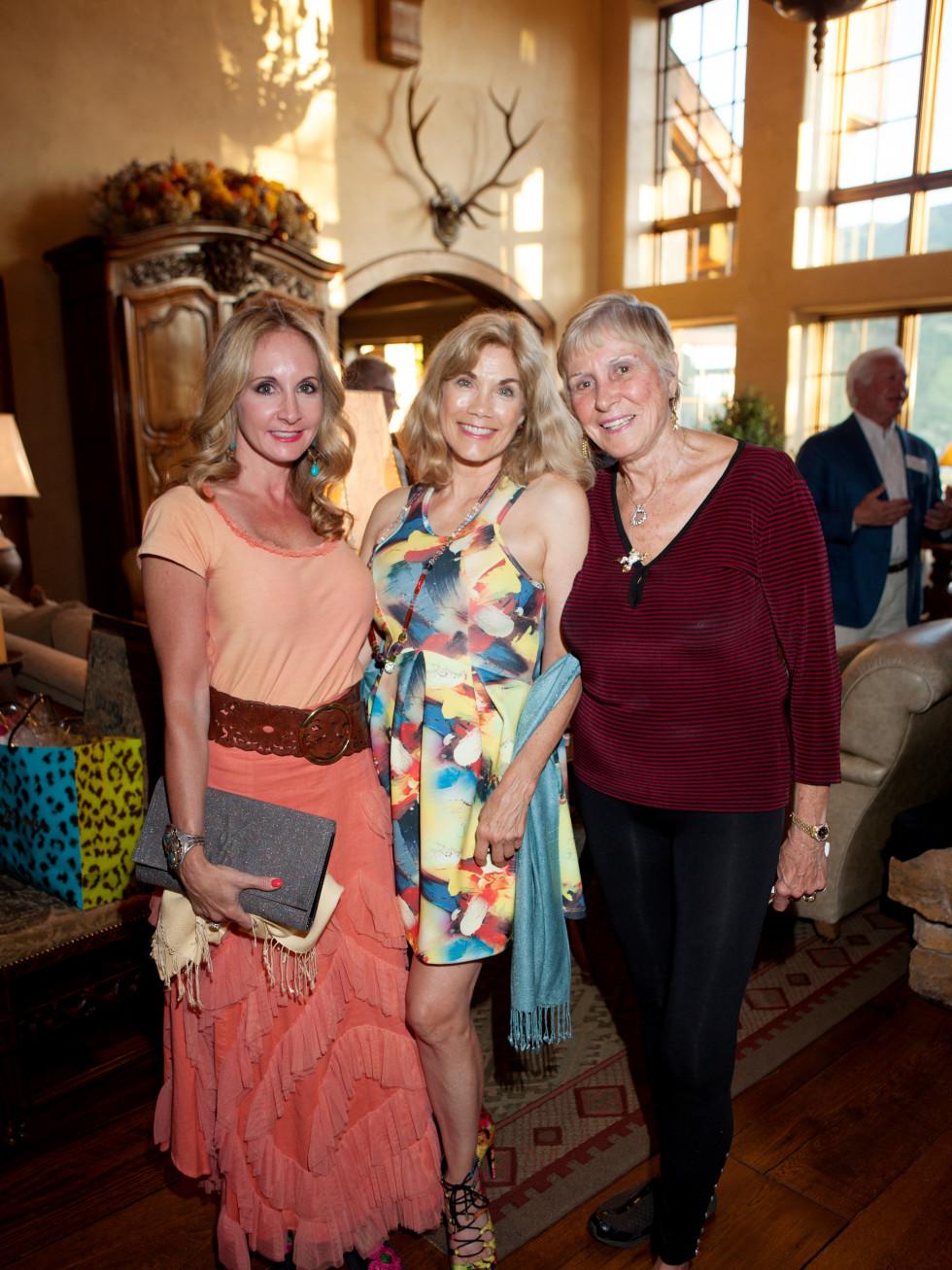 Houston, St. Luke's Foundation Summer Speaker Series Aspen, August 2015, Sharin Norman, Barbi Benton-Gradow, Helga Matuska