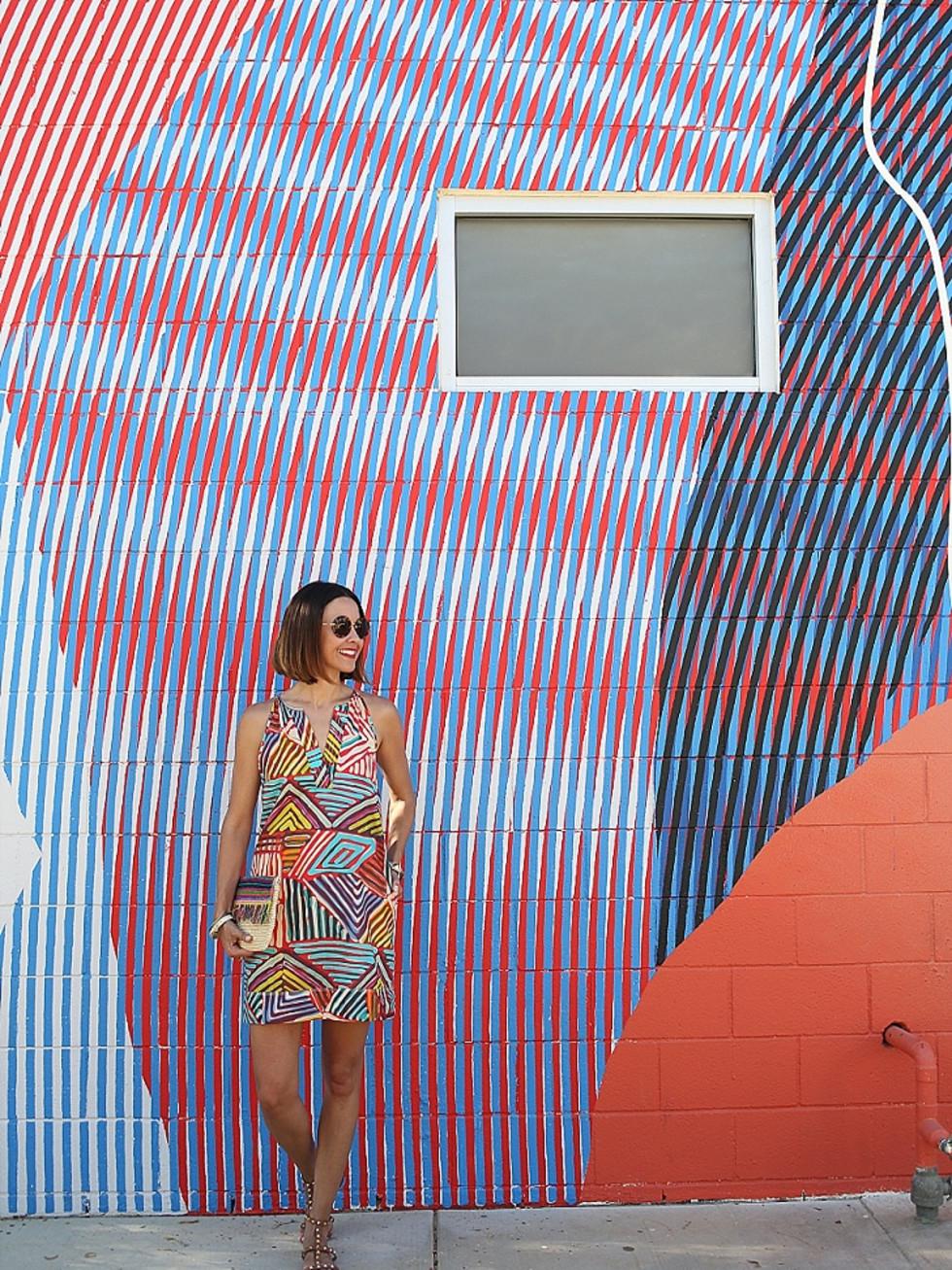 Carrie Colbert J Crew dress