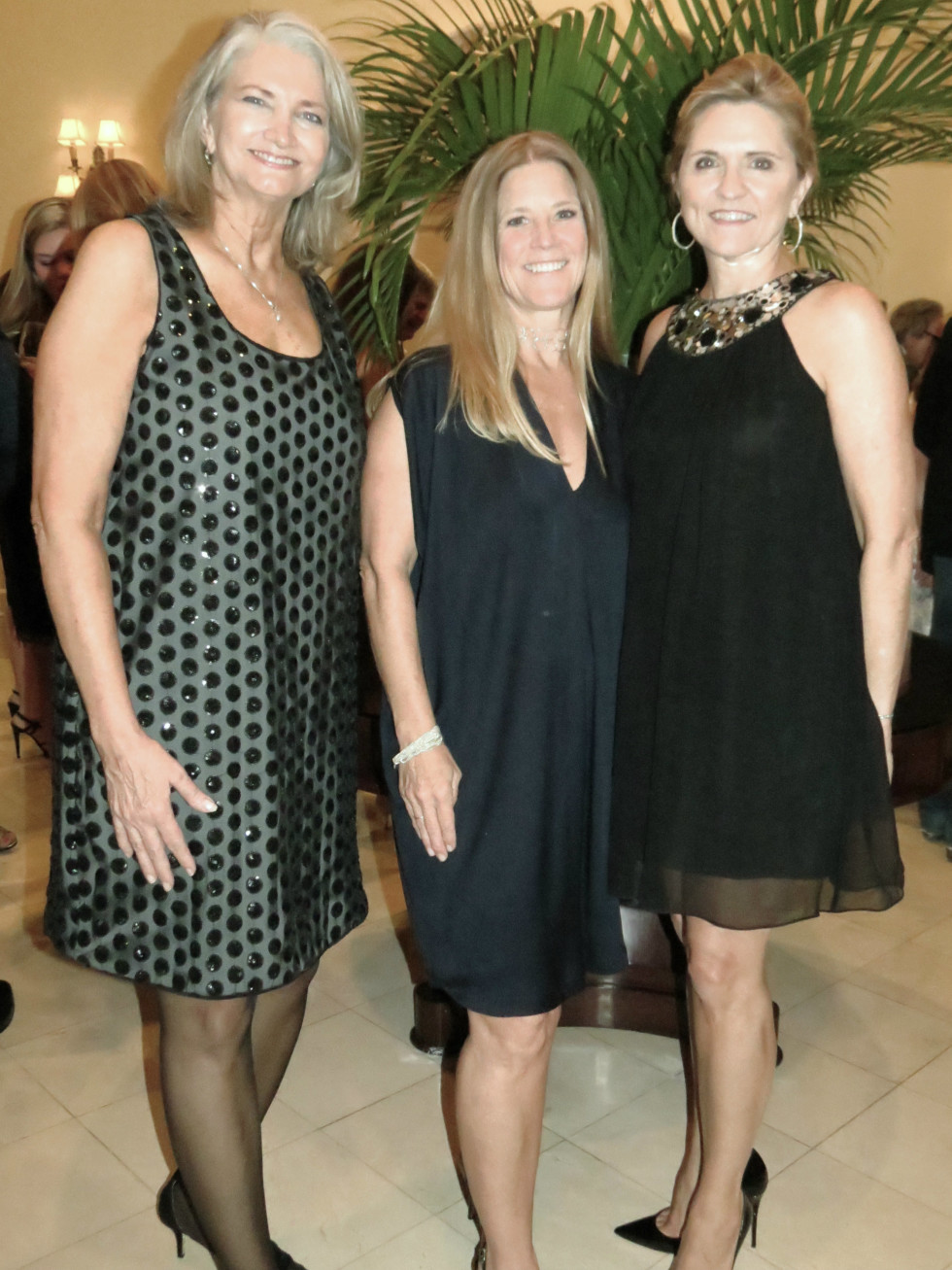 Presentation Ball Chair Nancy Labadie, event chair Eleanor Bond, and DSOL President Melissa Lewis