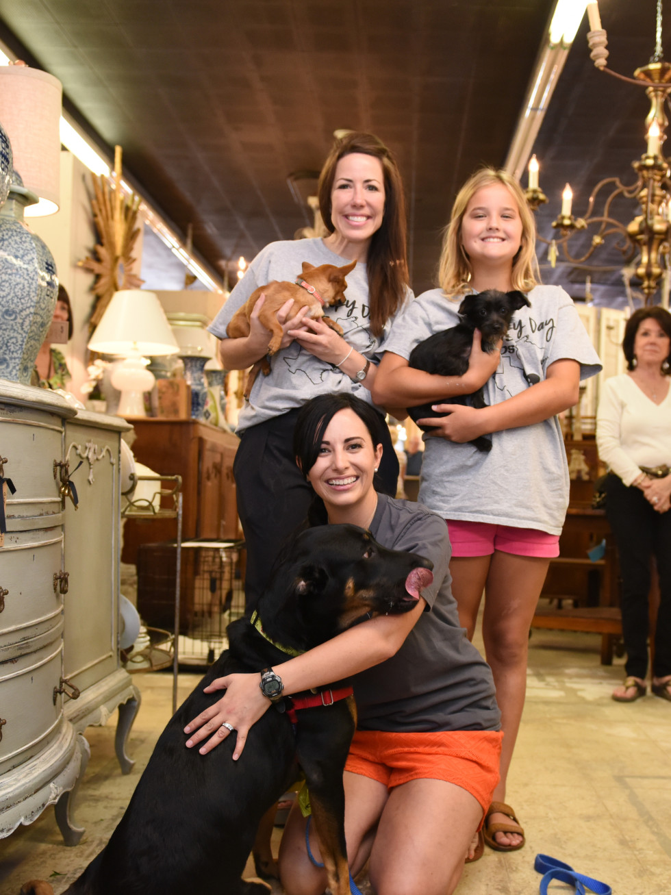 News, Shelby, Barks & Bubbles, Memorial Antiques, July 2015, Larissa Gavin, Julie Dodson,Emme Day