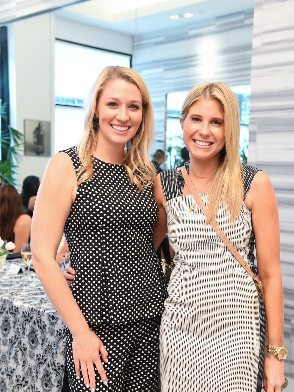 Christina Stith, Allie Fields at Jonathan Simkhai fashion show at Tootsies