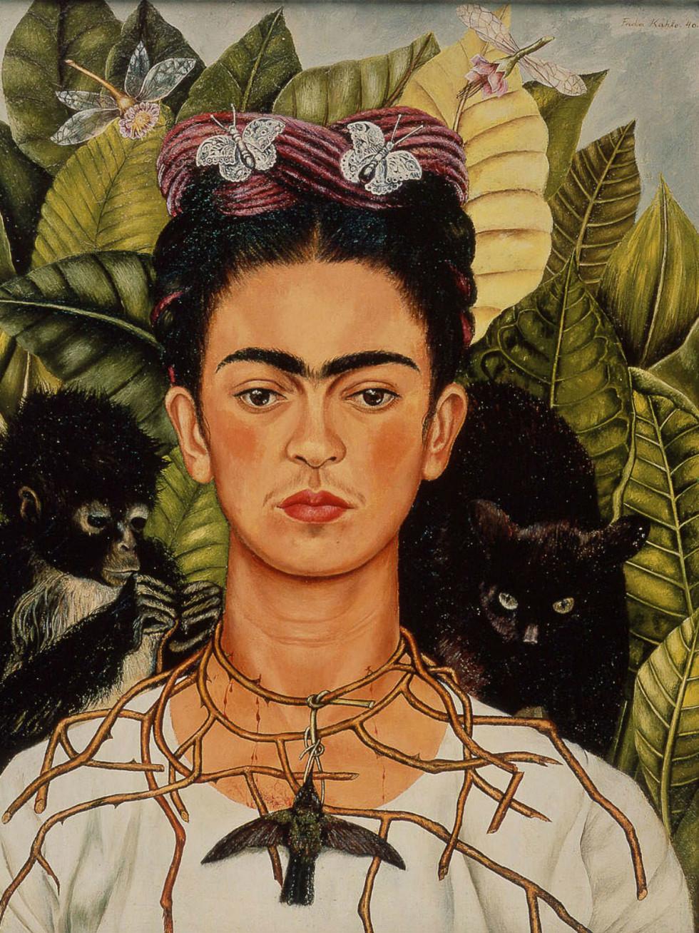News_Frida_Kahlo_Self_Portrait_with_thorn necklace_hummingbirds