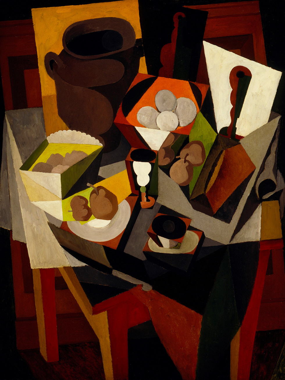 Paint the Revolution: Mexican Modernism, 1910–1950:Diego Rivera, Still Life with Bread and Fruit, 1917