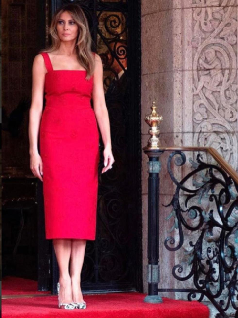 Melania Trump in Valentino