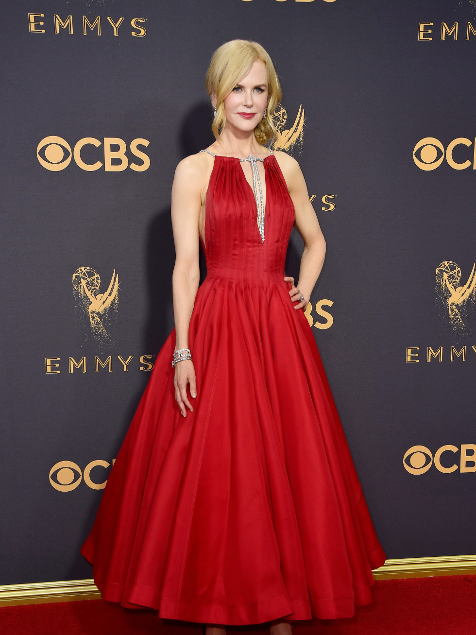 Nicole Kidman in Calvin Klein gown at Emmy 2017