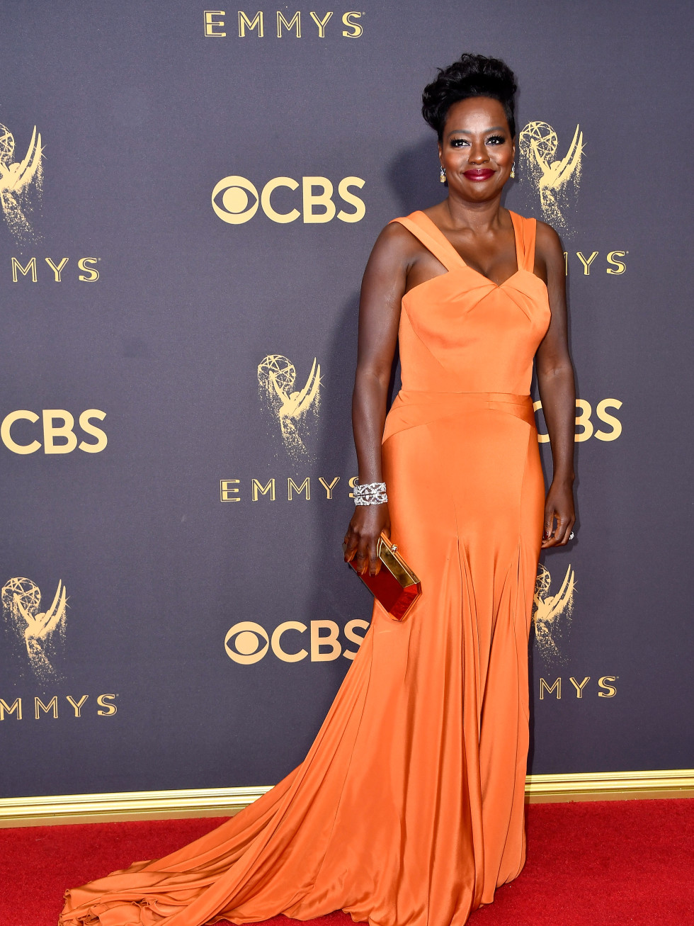 Viola Davis in Zac Posen at Emmy Awards 2017