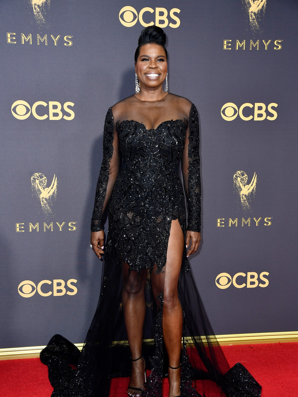Leslie Jones in Christian Siriano at Emmy Awards 2017