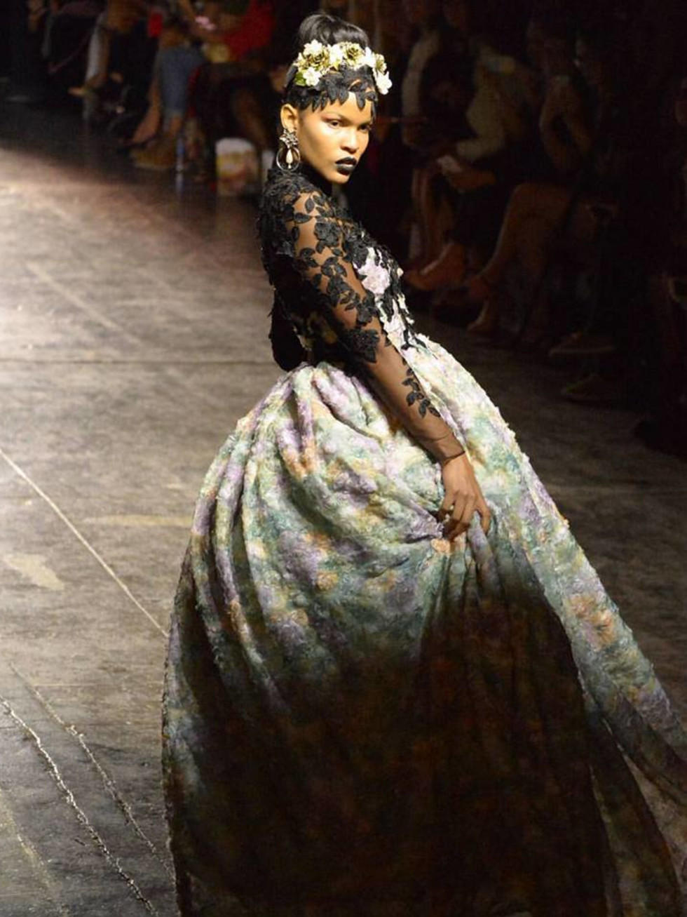 Chasity Sereal gown New York Fashion Week
