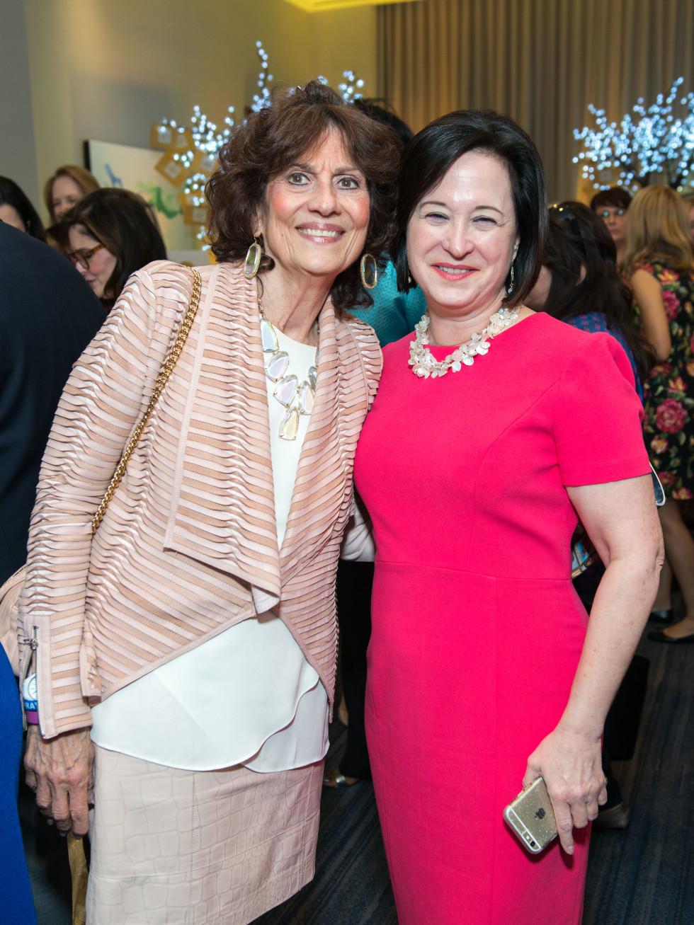 Donna Vallone, Anne E. Neeson at Memorial Hermann Razzle Dazzle luncheon