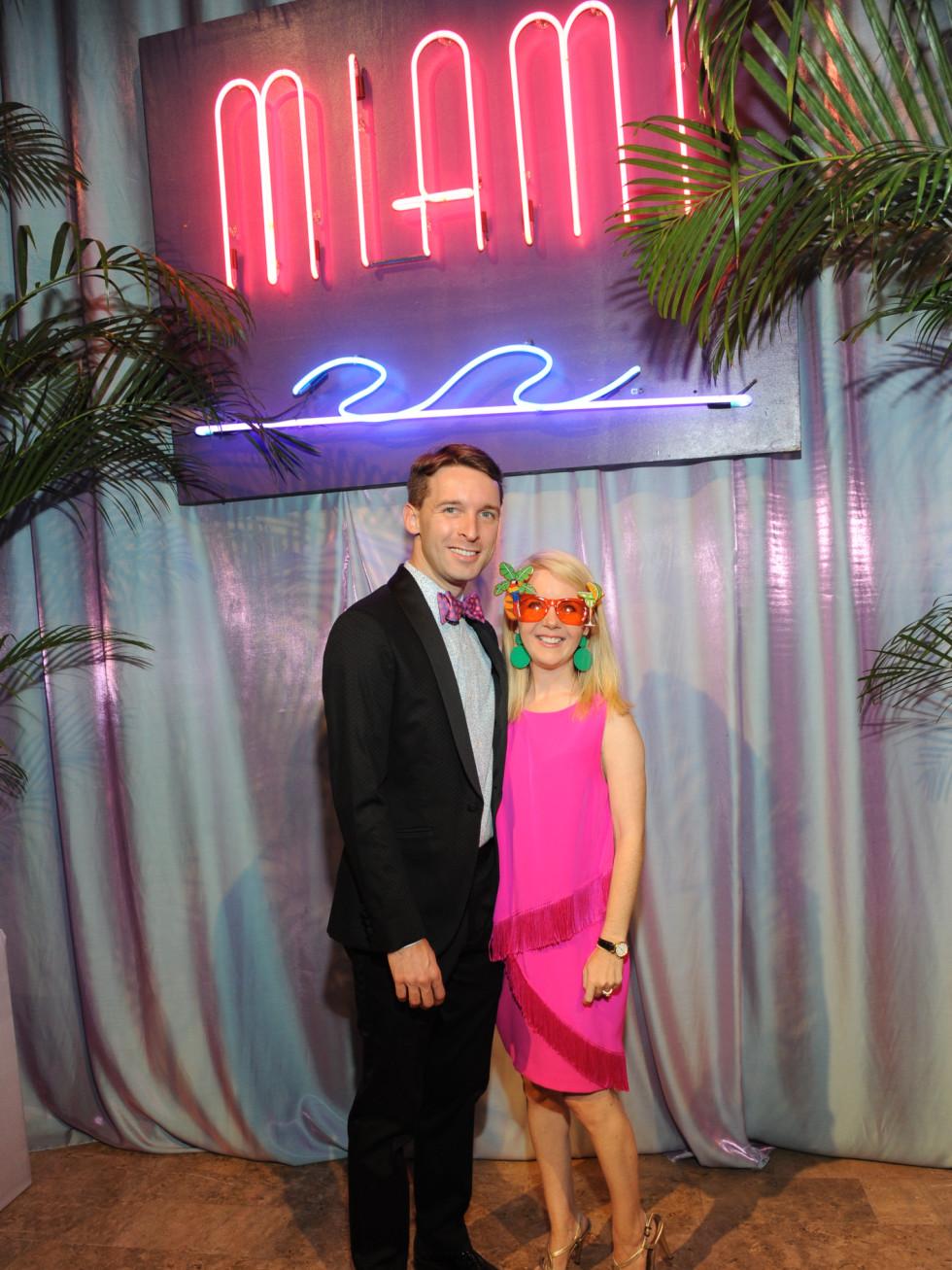 Nic and Winnie Phillips at Miami Vice Children's Museum Gala