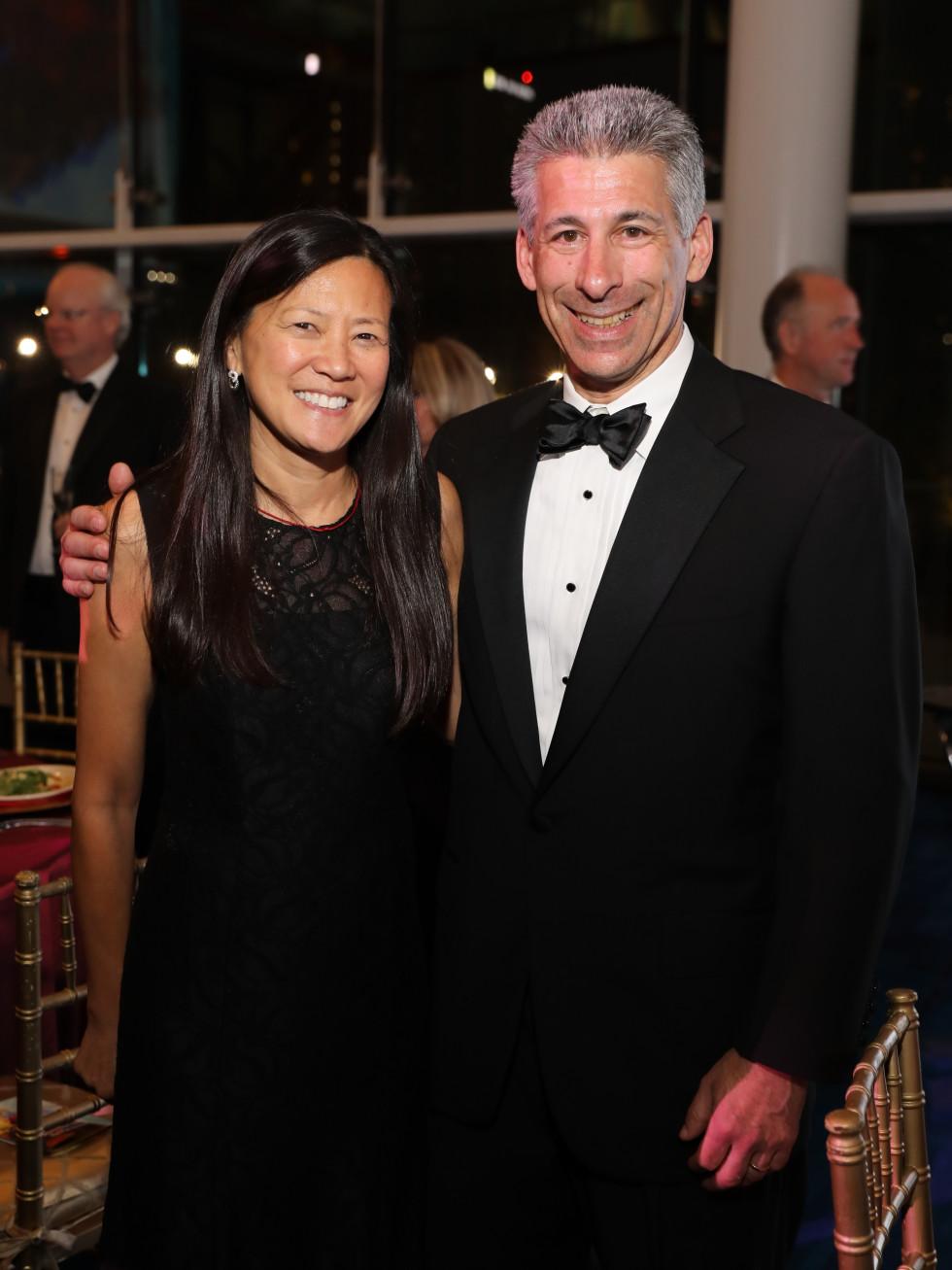 Claire Liu and Joe Greenberg at Houston Grand Opera opening night 2017
