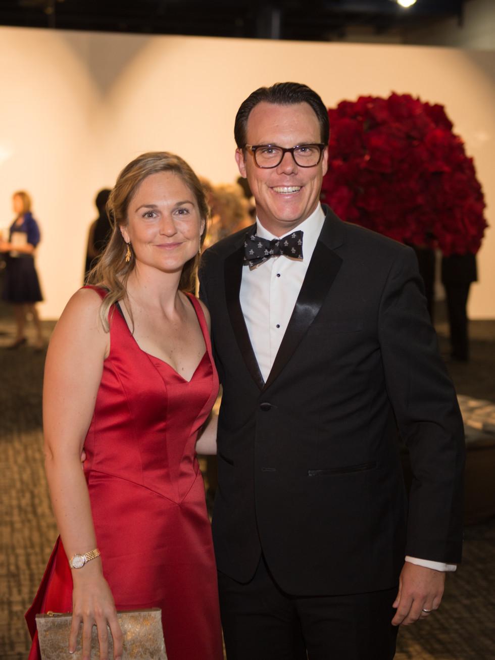 Katherine Thomasson and Michael Talbot at Houston Grand Opera opening night 2017