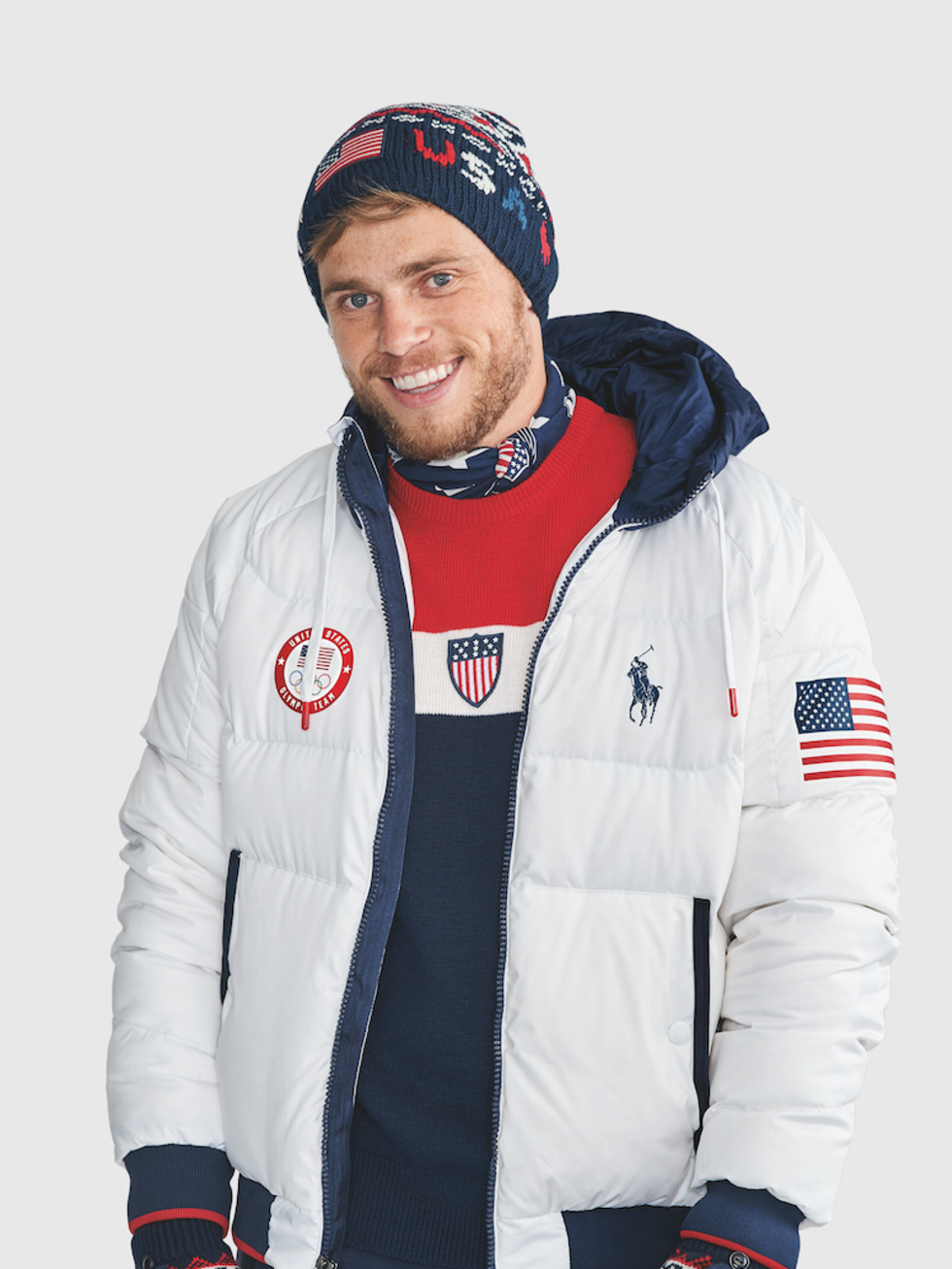 Gus Kenworthy Winter Olympics 2018 Ralph Lauren closing ceremony outfits