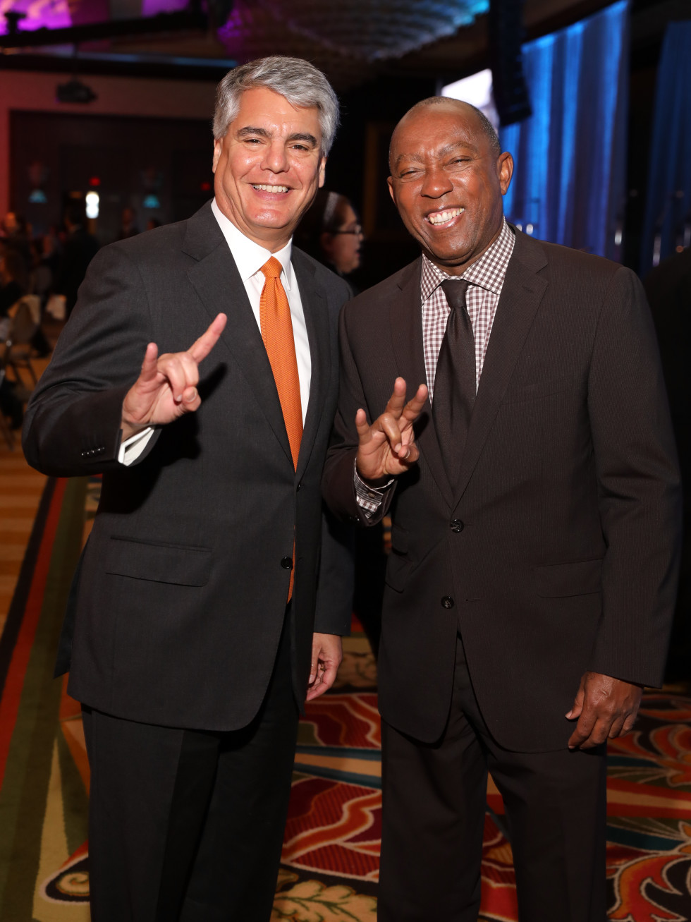 Houston, University of Texas at Austin Guardian of the Human Spirit Award Luncheon, November 2017, Gregory Fenves, Sylvester Turner