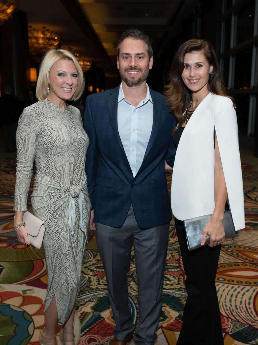 Lindsay Stewart, Craig and Karrie Yager at MD Anderson Legends dinner