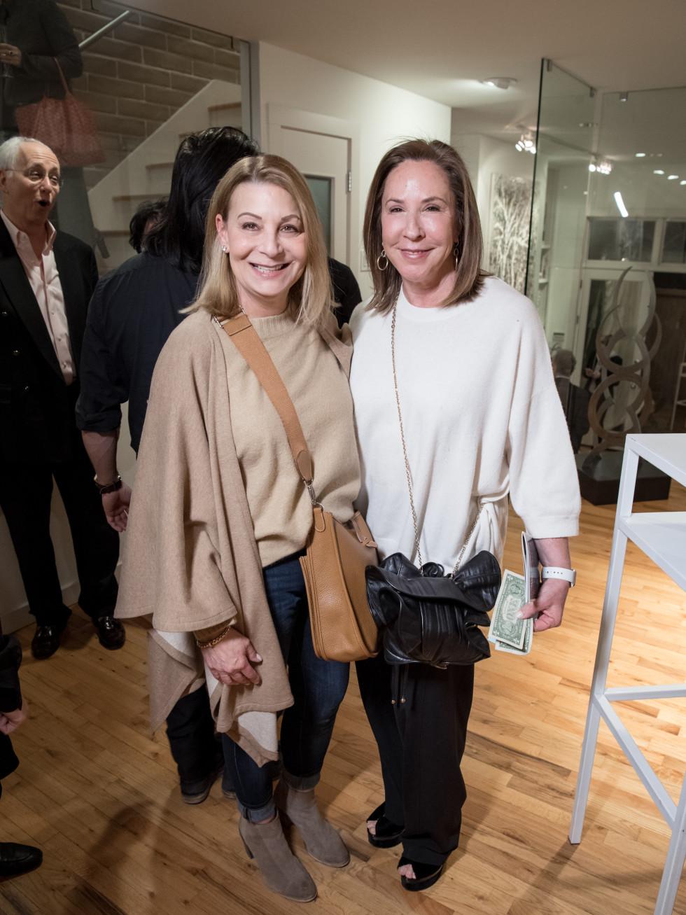 Dallas, LR Art House opening, January 2018, Leslie Dryzer, Sara Wood-Levy