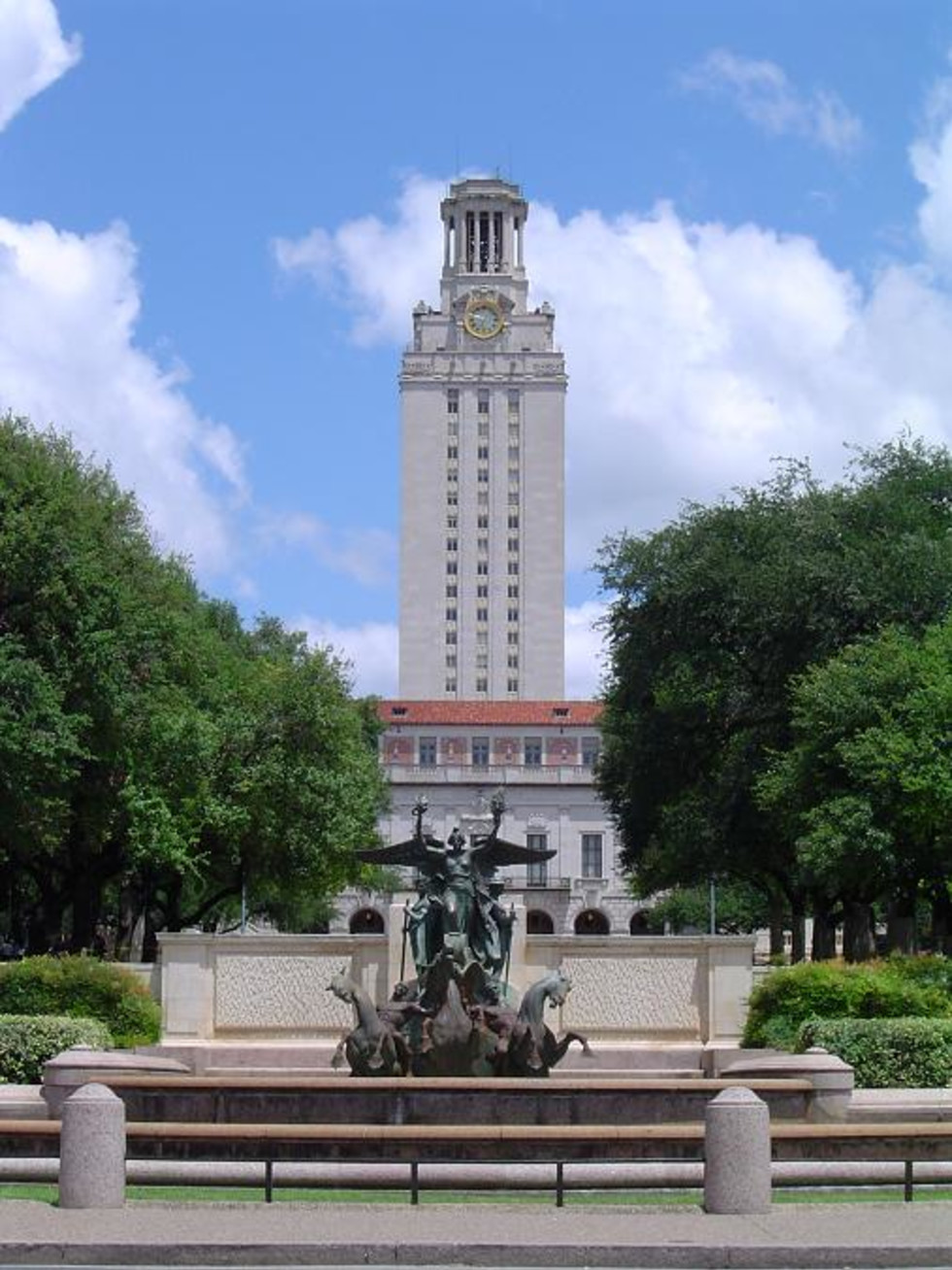 Austin_photo: places_outdoors_ut tower_fountain