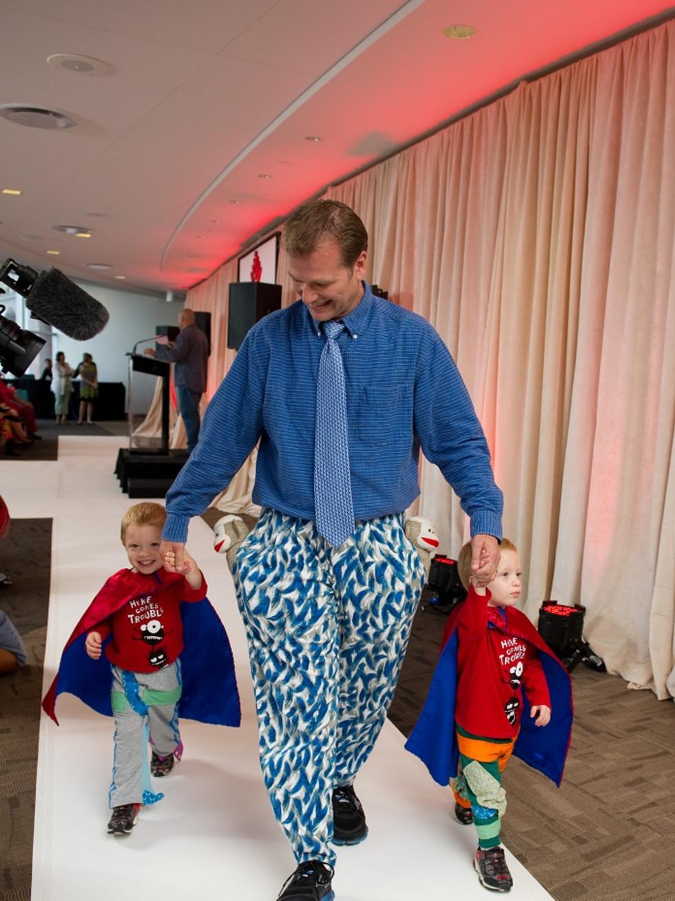 Bad Pants Fashion Show, Ned Hibberd, Alexander Hibberd, Michael Hibbard, Texas Children's Hospital, 2012