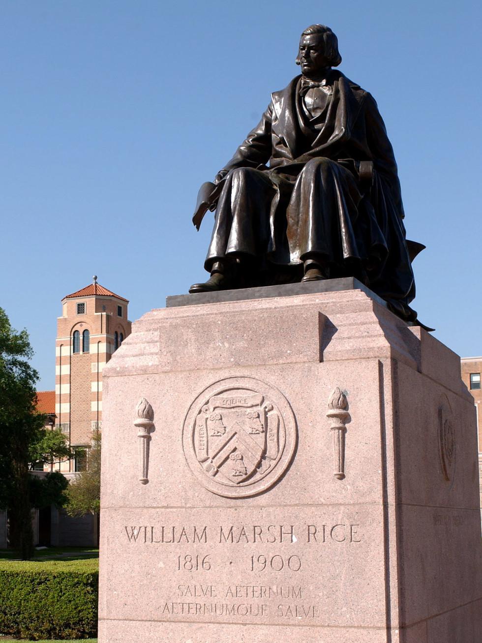 Places-Unique-Rice University Rice statue