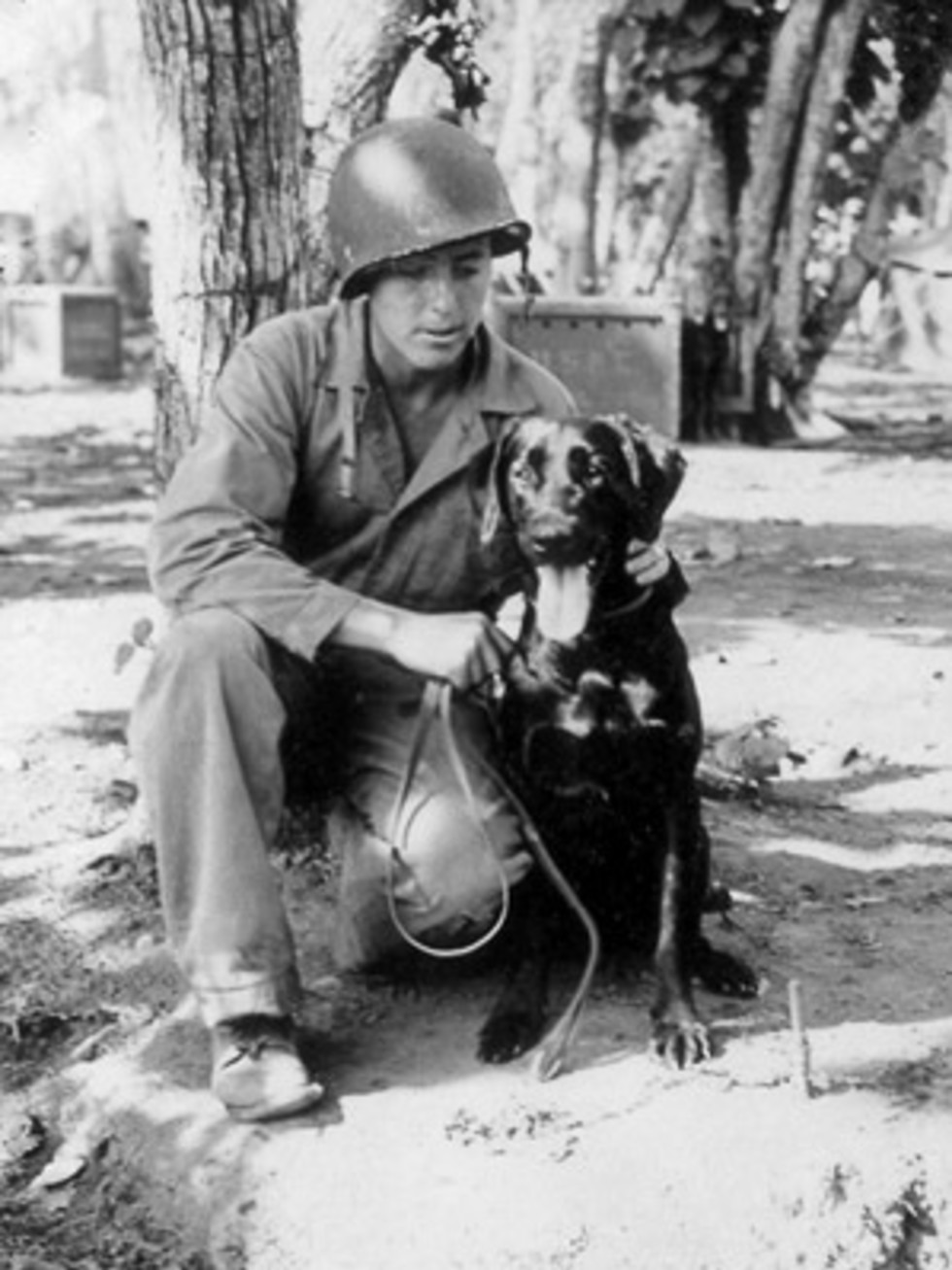 News_Joe Leydon_War Dogs of the Pacific_dog handler_Dale Fetzer_Skipper