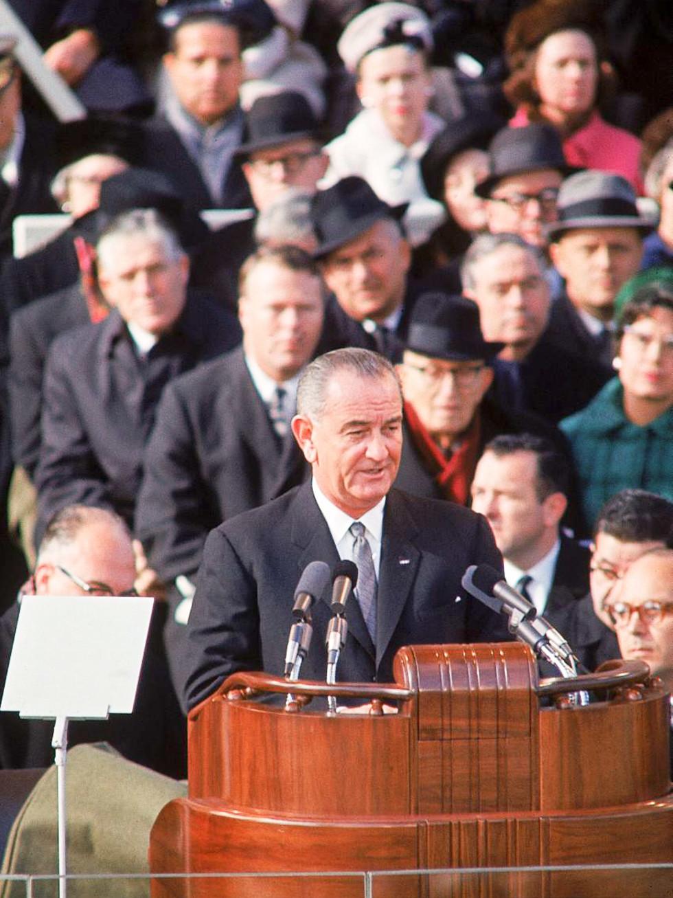 News_Lyndon Baines Johnson_president_speaking_podium