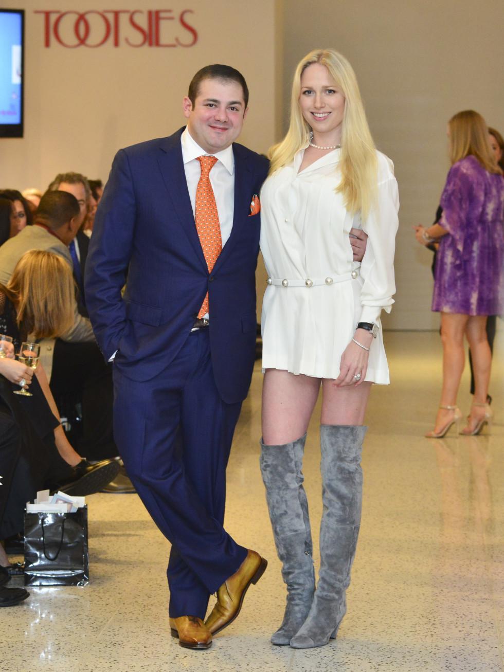 16 Phillip Sarofim and Lori Krohn at the Dec My Room Fashion Show February 2014