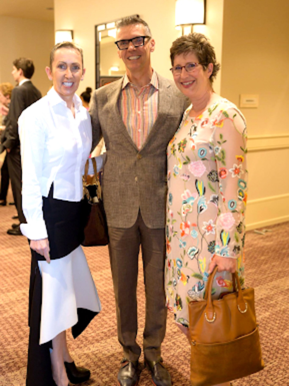 The Center luncheon Evelyn Maclean-Quick, Steve Quick, and Ashley Kress