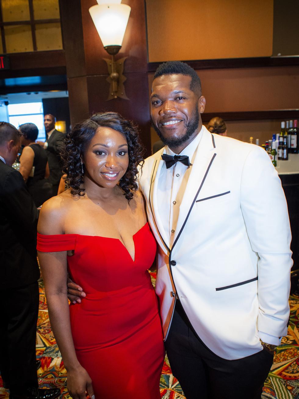 Tiffany Williams and Joelu Edewu