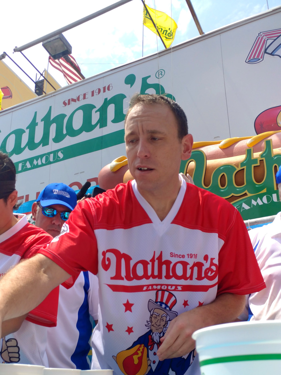 Joey Chestnut 2018 hot dog eating contest