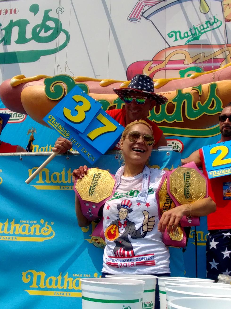 Joey Chestbut Miki Sudo 5-time champ
