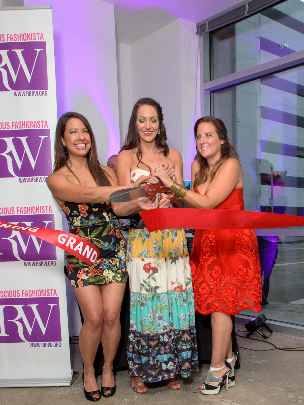 Ribbon Cutting - Anika Jackson Redick, Shannah Quinn and Jacquelyn Aluotto