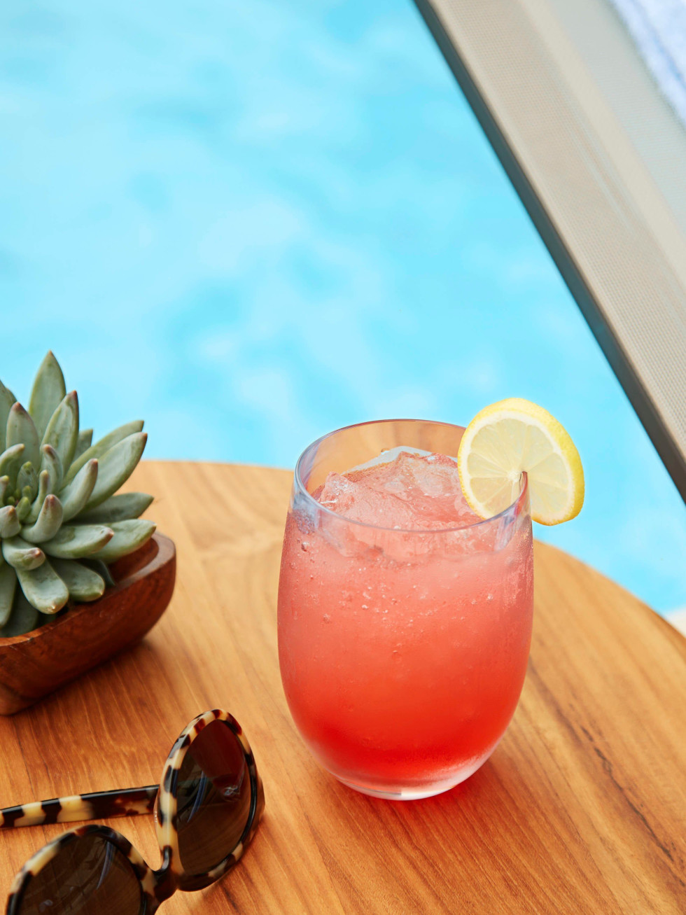 Fruity poolside cocktail