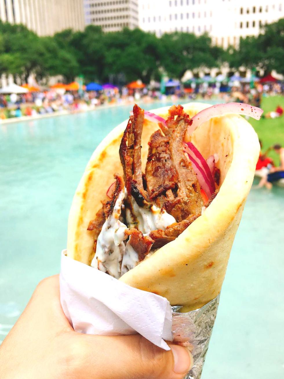 Houston Food Fest downtown pita
