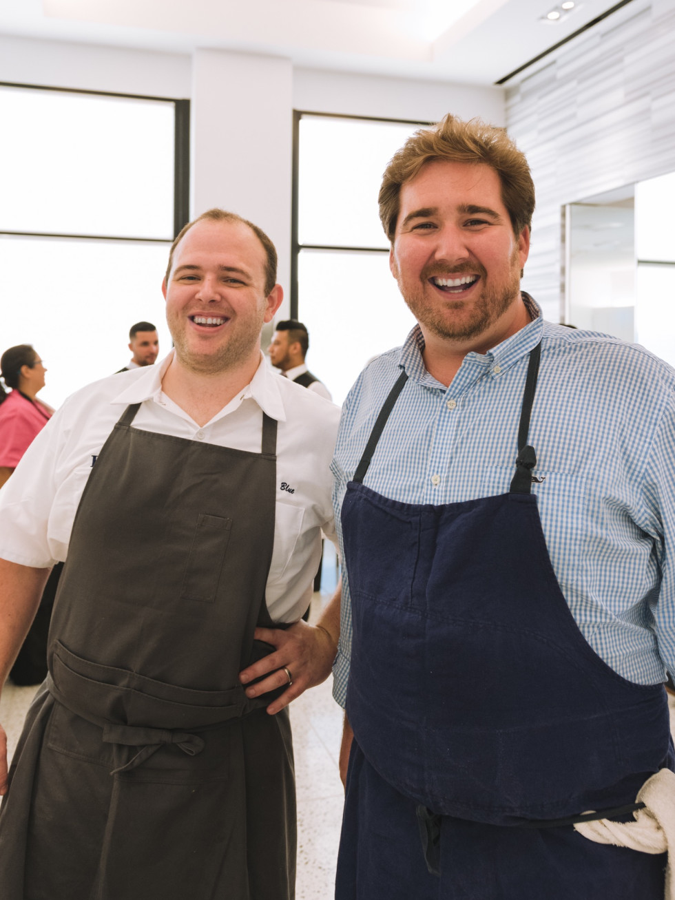 Eunice chefs Daniel Blue and Drake Leonards