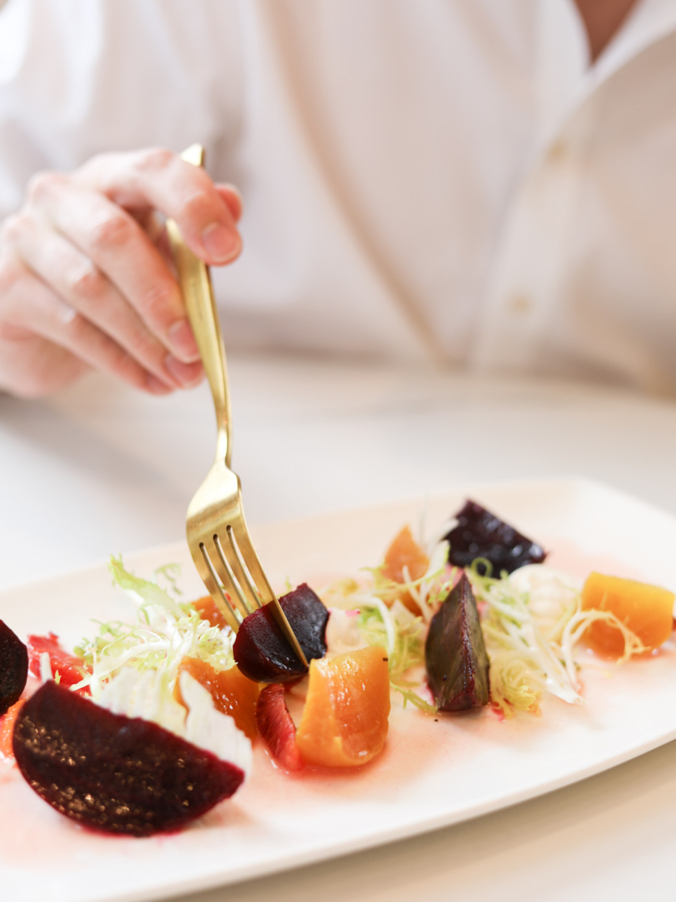 Bisou roasted beets with goat cheese