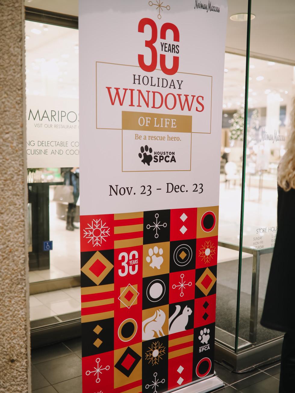 SPCA Neiman Marcus Holiday Windows of Life puppies kittens Houston