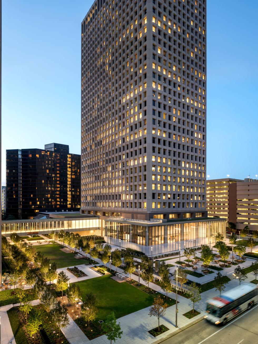 C. Baldwin Hotel Allen Center downtown Houston - vertical