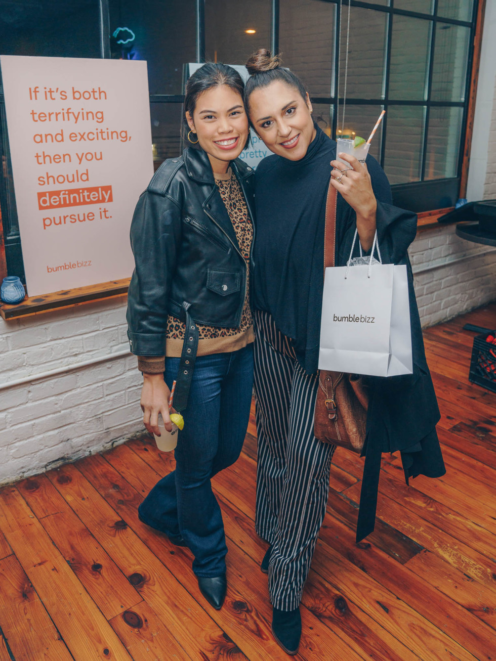 Bumble Understated Leather The Kindness Campaign VIP Event at Antone's Upstairs Amy Luck Alejandra Esperon