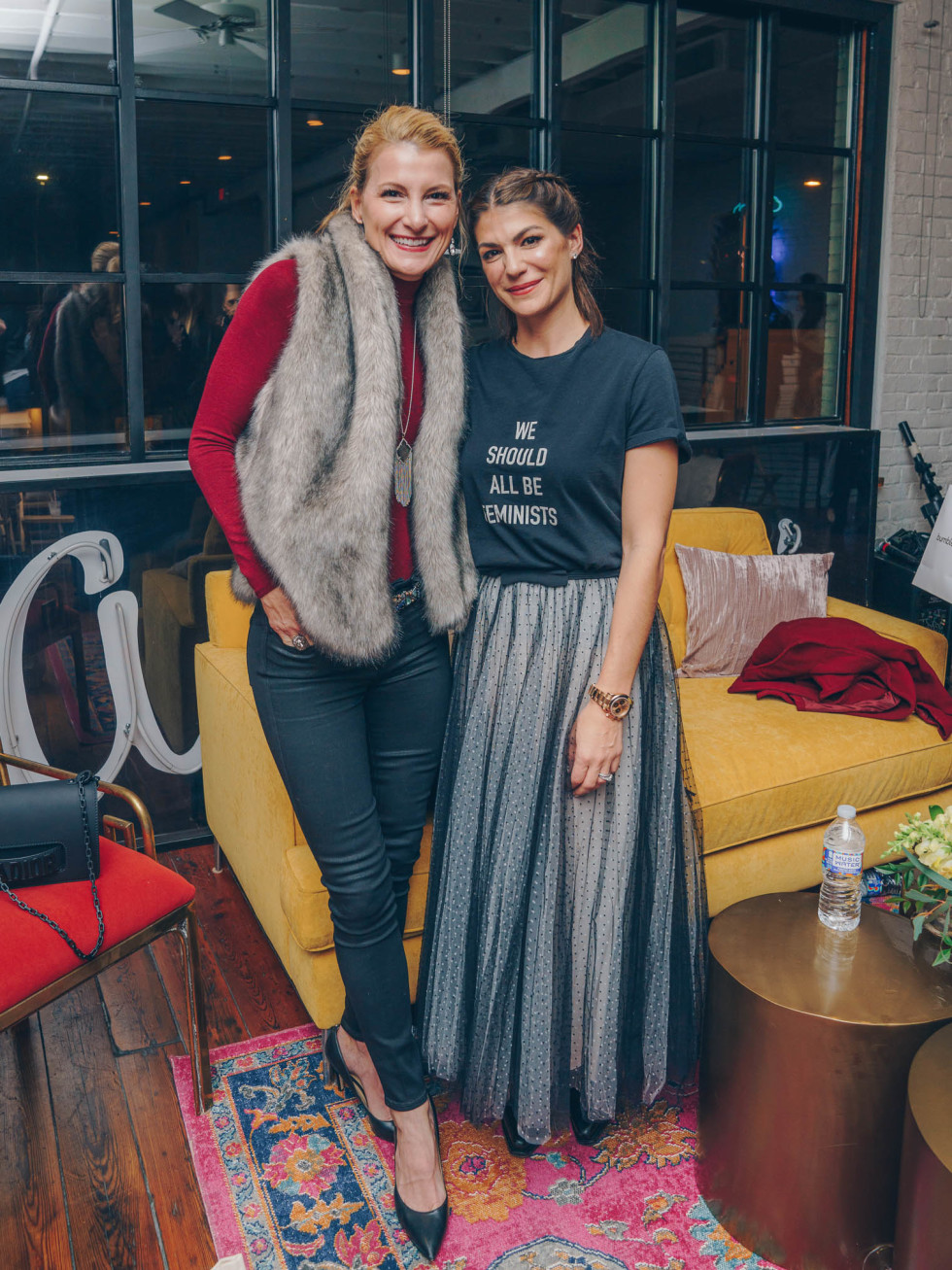 Bumble Understated Leather The Kindness Campaign VIP Event at Antone's Upstairs Sandy Molinare Genevieve Padalecki